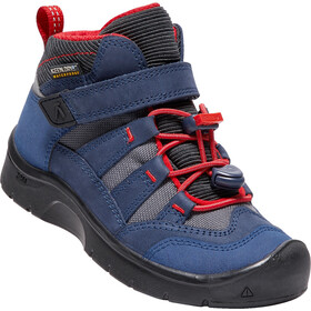 Keen Hikeport Mid WP Shoes Children Dress Blues Firey Red 9d195c12bd